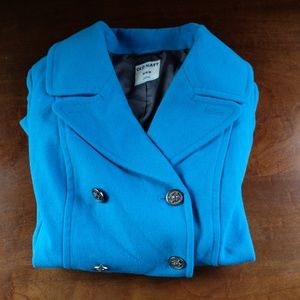 Old Navy Women's Bright Blue Pea Coat Size Medium